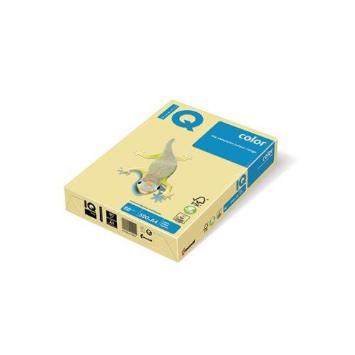 Fénymásolópapír színes IQ Color A/4 80 gr pasztel vanília BE66 500 ív/csomag
