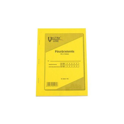Nyomtatvány pénztárjelentés VECTRA-LINE A/5 25x2 lapos