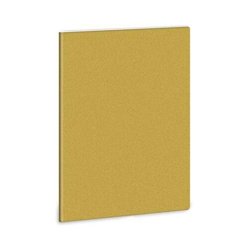 Füzet ARS UNA A/4 40 lapos Extra vonalas glitter arany