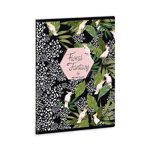 Szótárfüzet ARS UNA A/5  40 lapos Extra Floral Kakadu