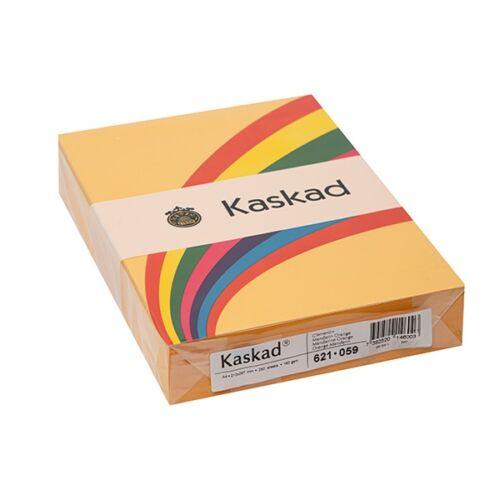 Fénymásolópapír színes KASKAD A/4 160 gr mandarin sárga 59 250 ív/csomag