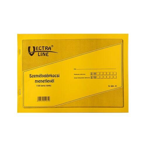 Nyomtatvány személygépkocsi menetlevél VECTRA-LINE A/4
