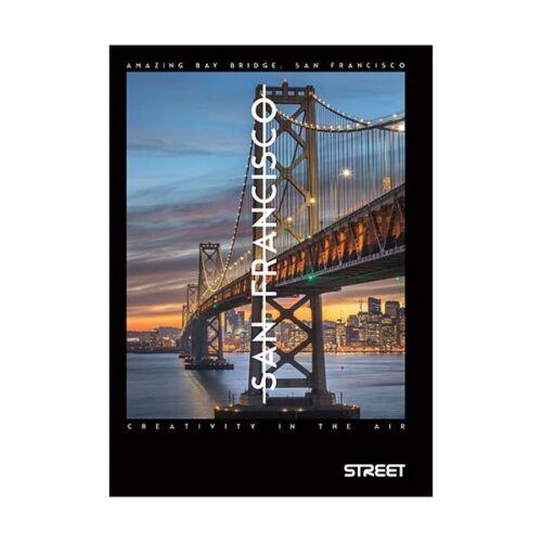 Füzet STREET Bridges A/5 50 lapos vonalas margóval