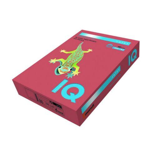 Fénymásolópapír színes IQ Color A/4 80 gr intenzív korallpiros CO44 500 ív/csomag